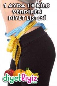 1 ayda 15 kilo