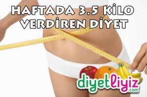 ayça kara haftada 3.5 kilo verdiren diyet