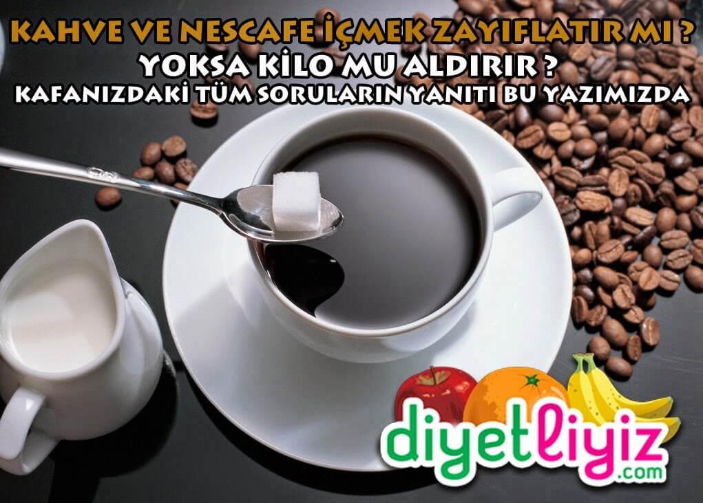 kahve zayıflatır mı