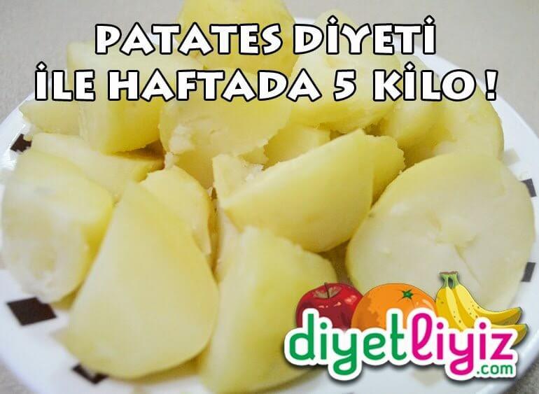 patates diyet listesi